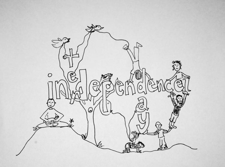 interdependence day illustration